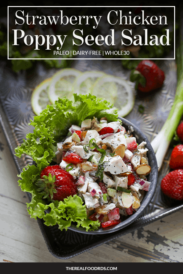 Pin image for Strawberry Chicken Poppy Seed Salad