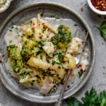 Broccoli Cauliflower Cheddar Chicken Casserole