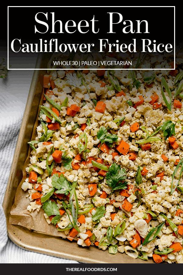 Pin image for Sheet Pan Cauliflower Fried Rice