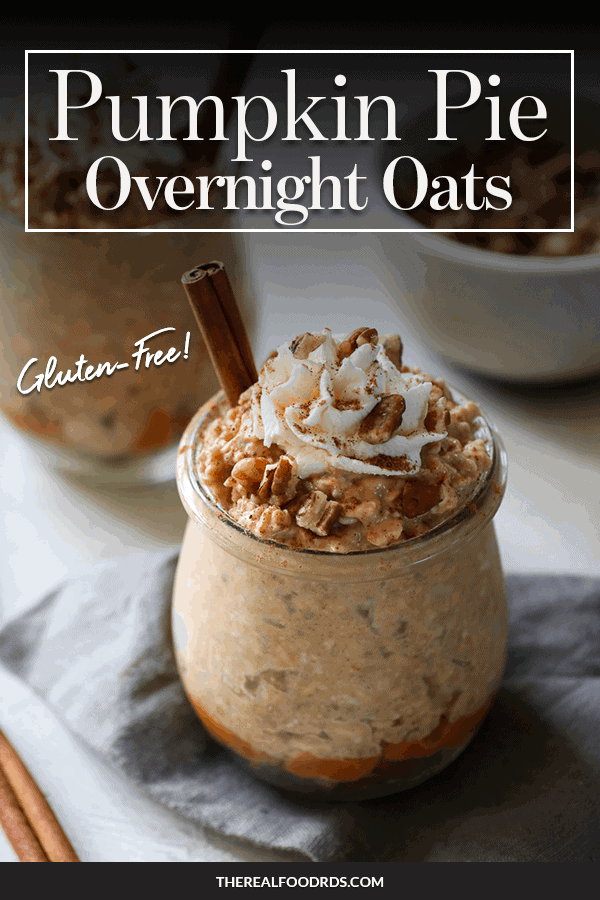 Pin image for Pumpkin Pie Overnight Oats