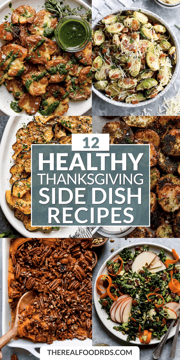 Pin image for 12 Healthy Thanksgiving Side Dish Recipes
