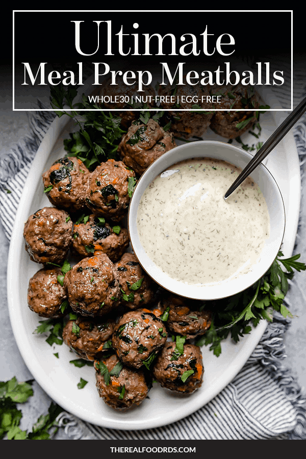 Pin image for Ultimate Meal Prep Meatballs