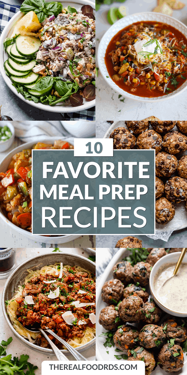 Pin image for 10 Favorite Meal Prep Recipes