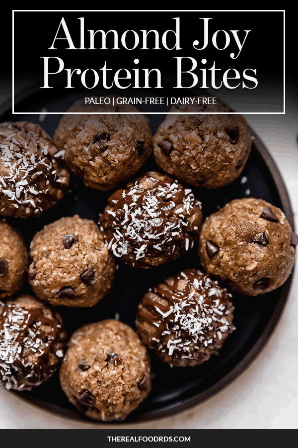 Pin image for Almond Joy Protein Bites