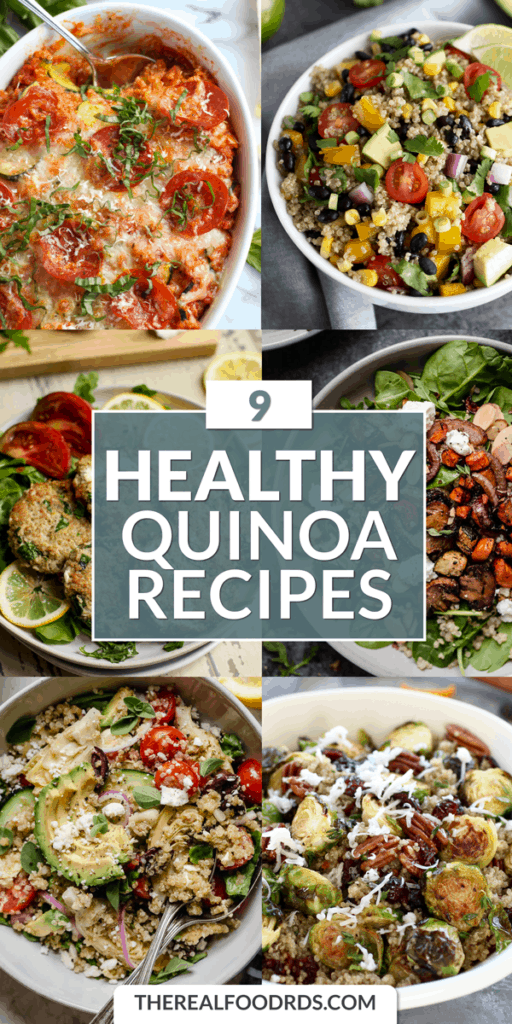 Pin Image for 9 Healthy Quinoa Recipes