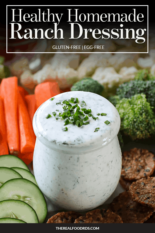 Pin image for Healthy Homemade Ranch Dressing