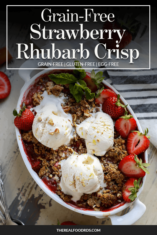 Pin Image for Grain-Free Strawberry-Rhubarb Crisp