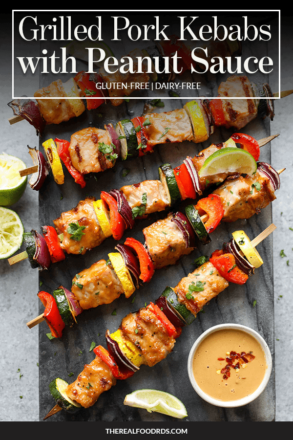 Pin image for Grilled Pork Kebabs with Peanut Sauce