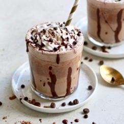 Healthy Mocha Frappe ready to be enjoyed