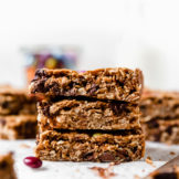Monster Cookie Bars stacked