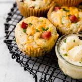 Savory Ham & Cheese Muffins ready to serve