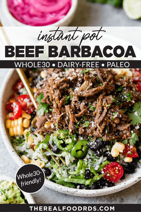 Pin image for Instant Pot Beef Barbacoa