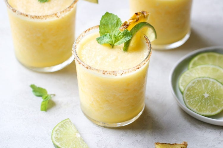 Frozen Pineapple Margaritas – The Real Food Dietitians