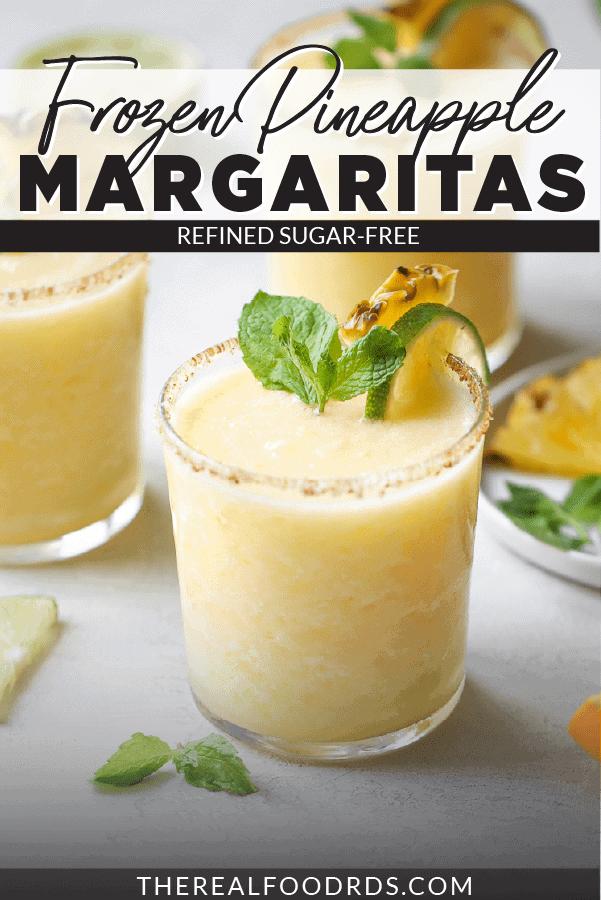 Pin image for Frozen Pineapple Margaritas