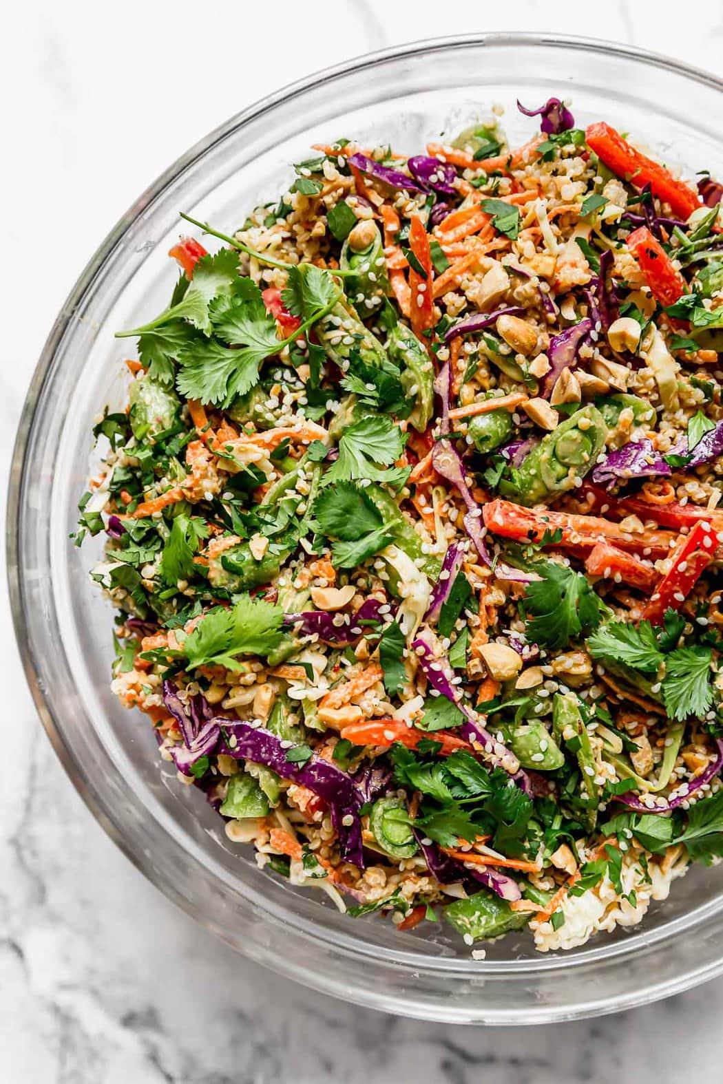 Thai Peanut Quinoa Salad Ready to Mix