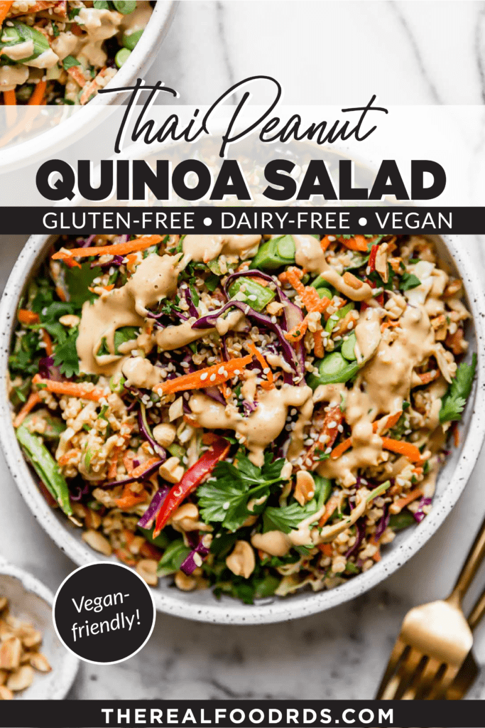 Pin image for Thai Peanut Quinoa Salad