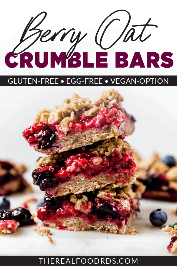 Pin image for Berry Oat Crumble Bars