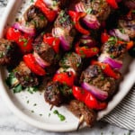 Grilled Steak Kebabs Ready to Eat
