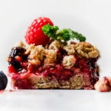 Oat Berry Crumble Bars Ready to Eat