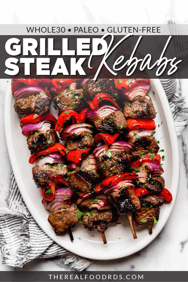 Pin image for Grilled Steak Kebabs