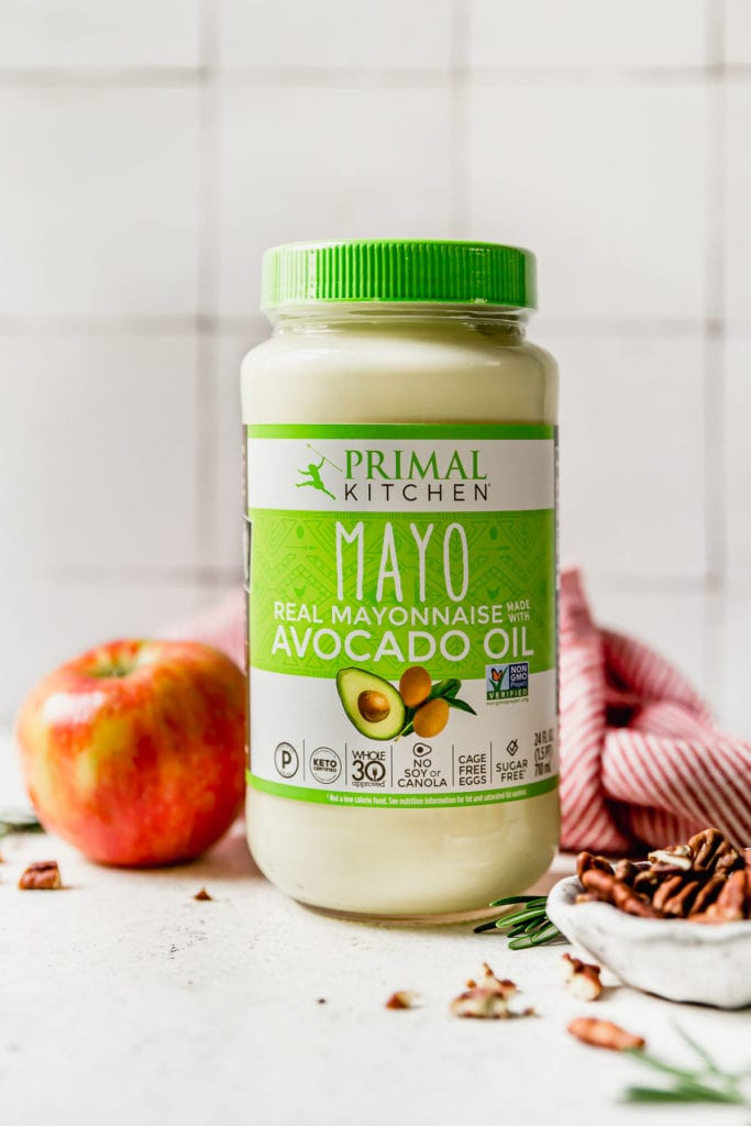 Jar of Primal Kitchen Mayo for the Cranberry Chicken Salad.