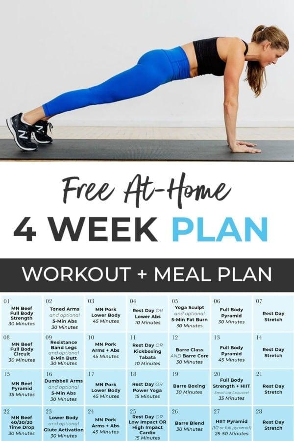 Calendar Graphic for 4 Week Challenge