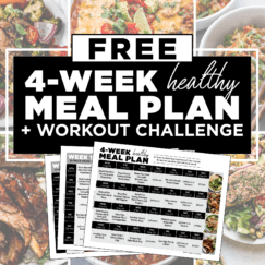 FREE 4-Week Healthy Meal Plan with Grocery List