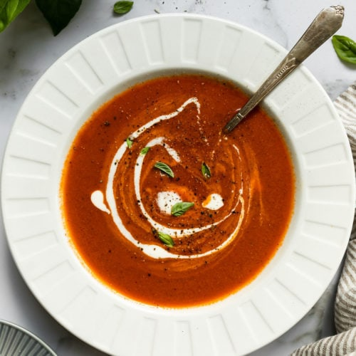 Creamy Tomato Basil Soup 5 1